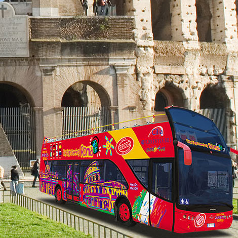 Rom Hop-on Hop-off Sightseeing buss