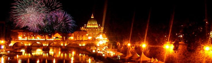 Nyår I Rom Nyårsfyrverkerier Vid Colosseum Nyårskonserter